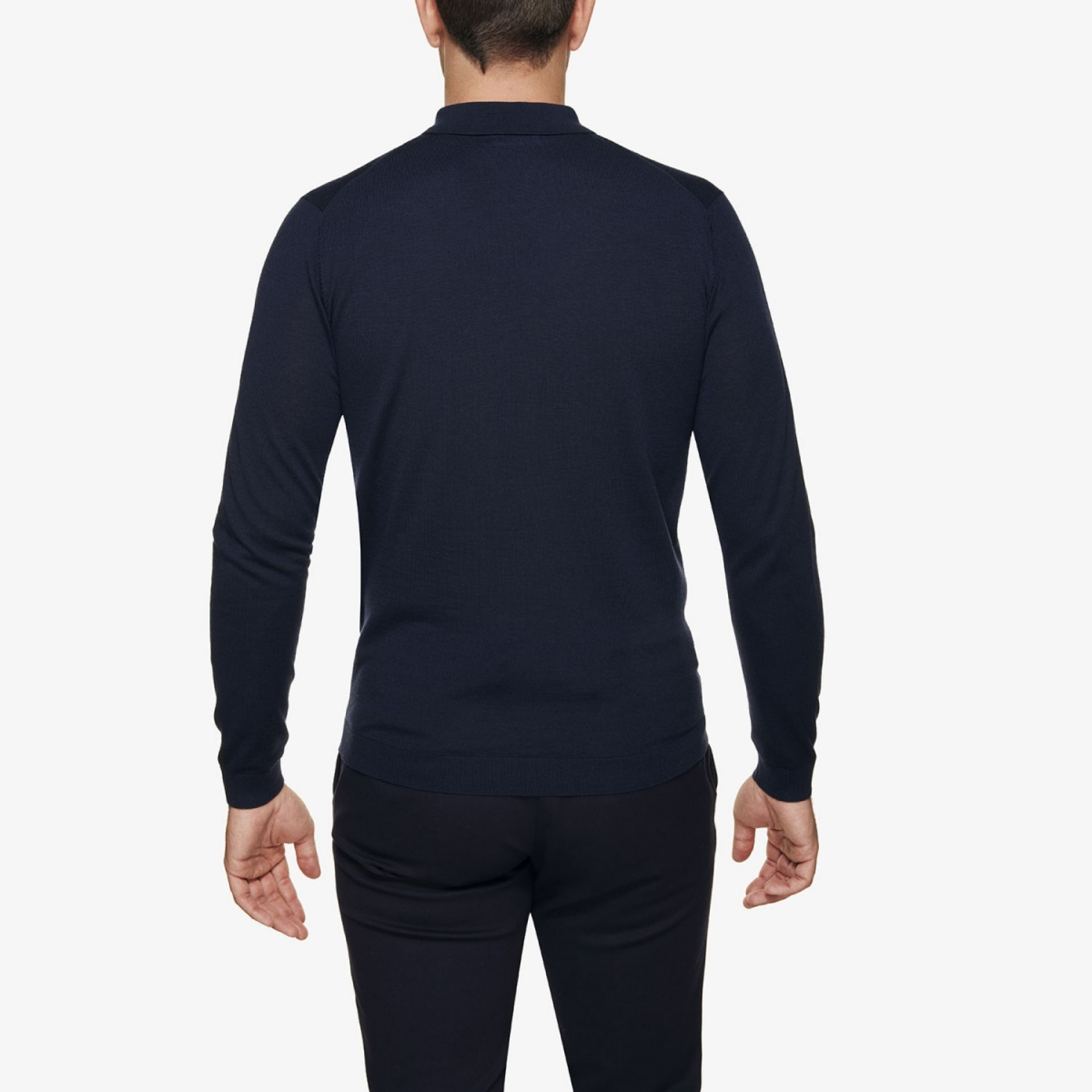 Gold polo donkerblauw