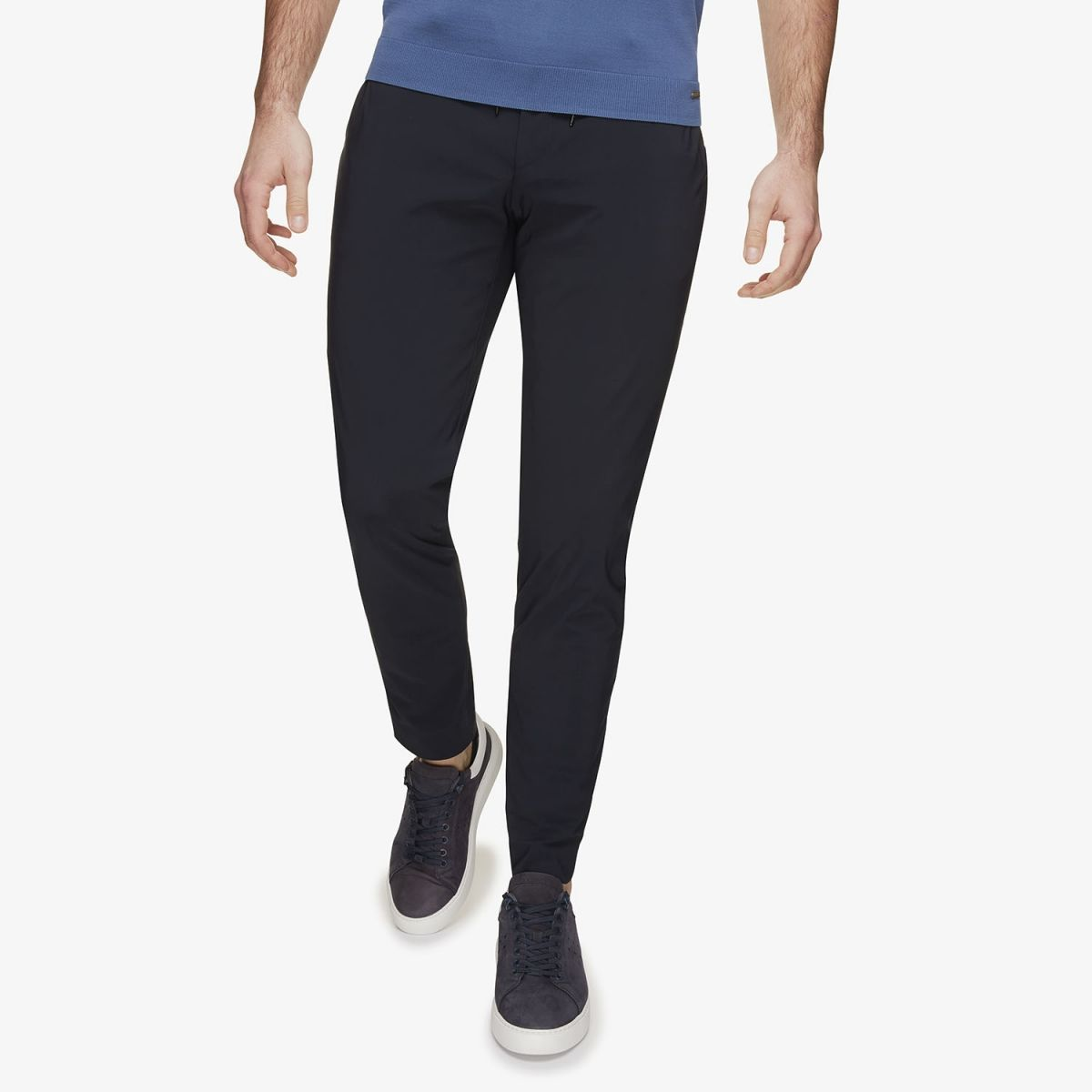 Dynamic Stretch Pantalon koord Donkerblauw