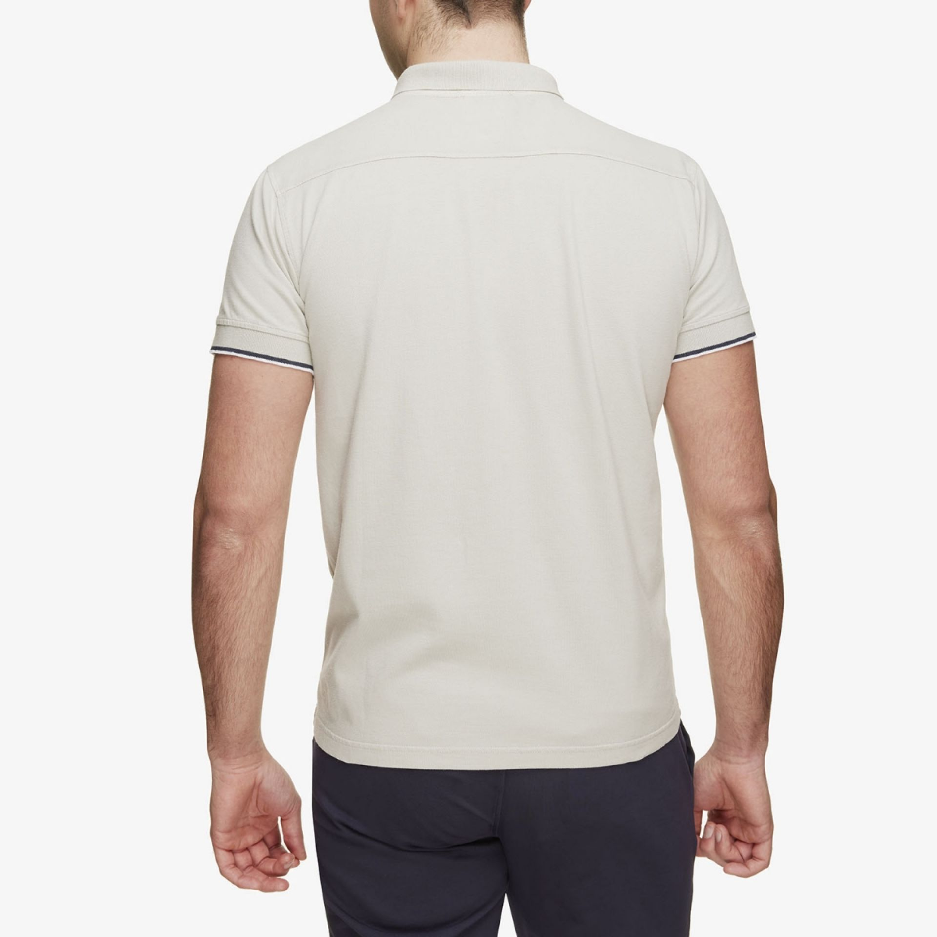 Pique Stretch Polo Beige