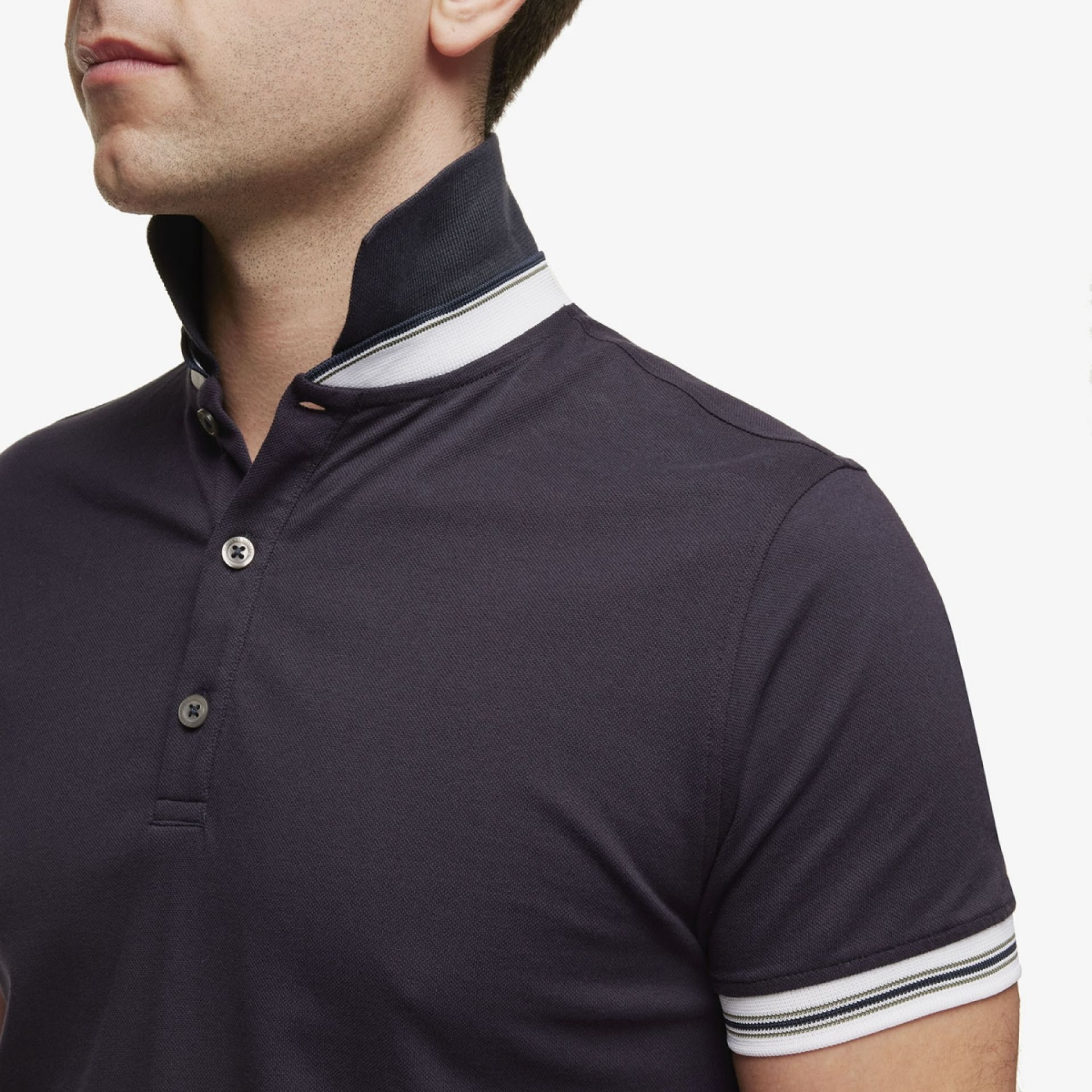 Pique Stretch Polo Donkerblauw