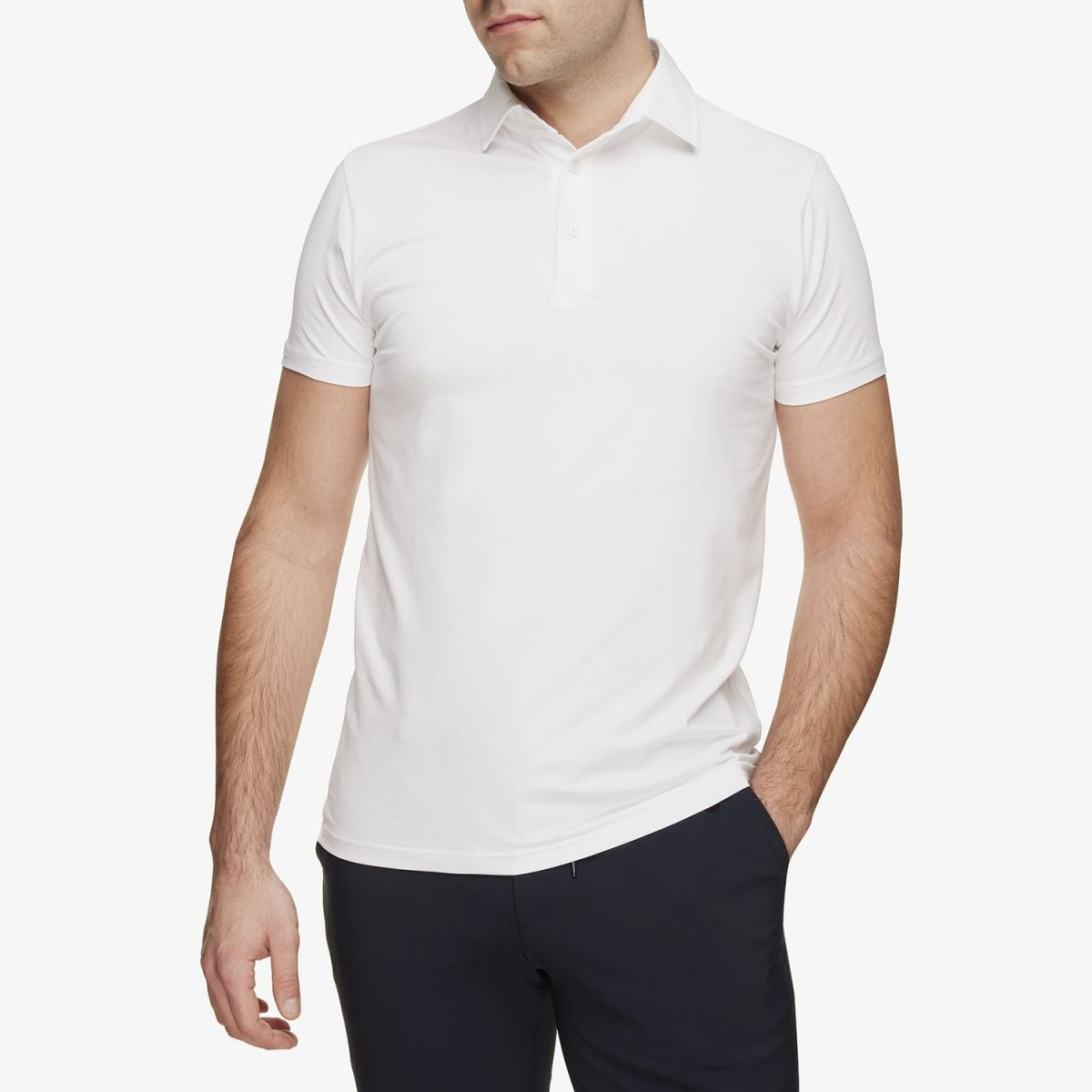 Gold Ice Cotton Polo Wit