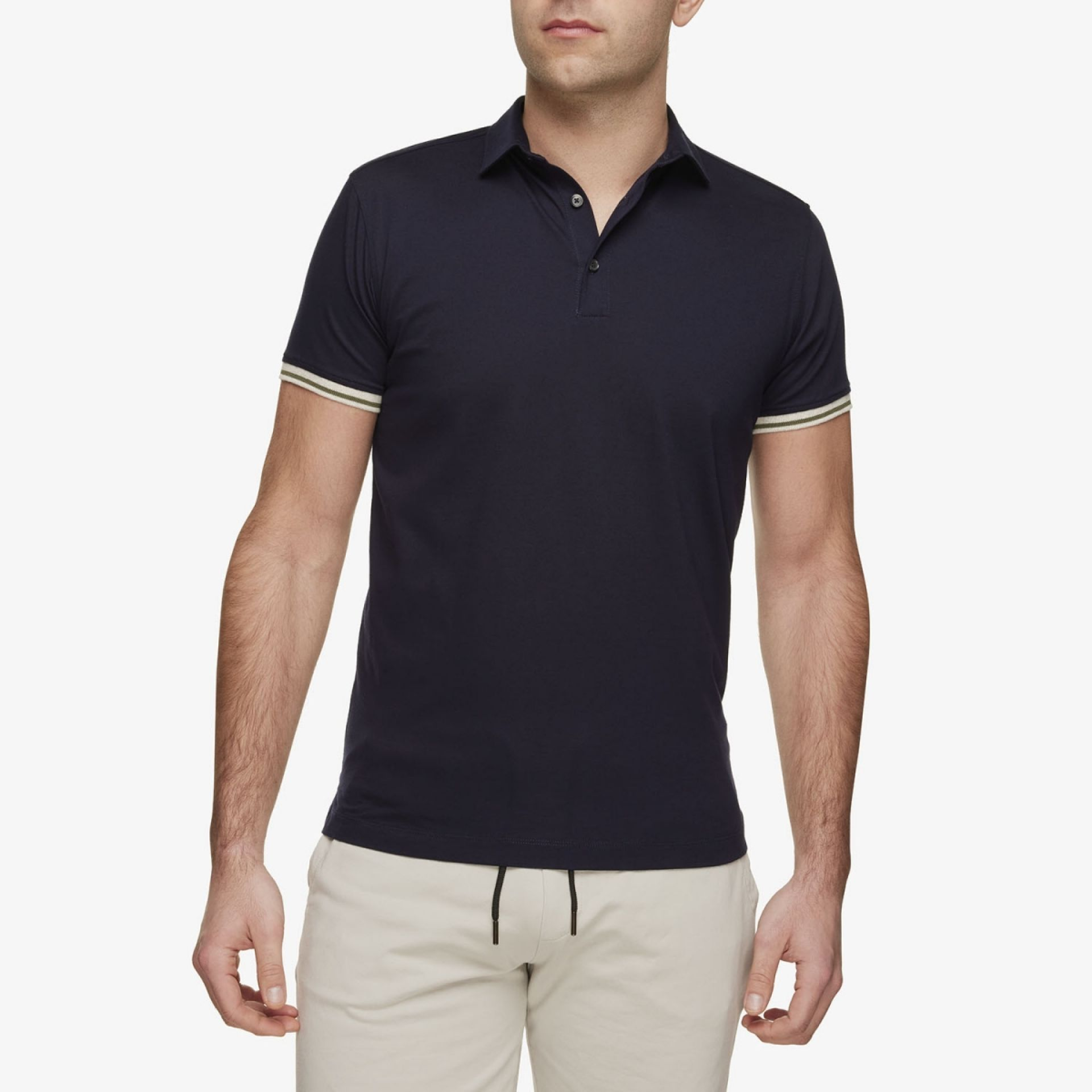 Jersey Polo Donkerblauw